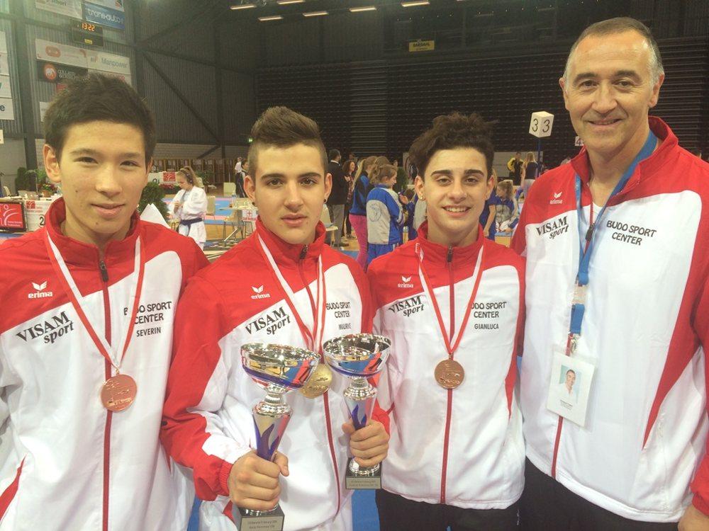 Severin Koch, Maurice Rösch, Gianluca und Giuseppe Puglisi