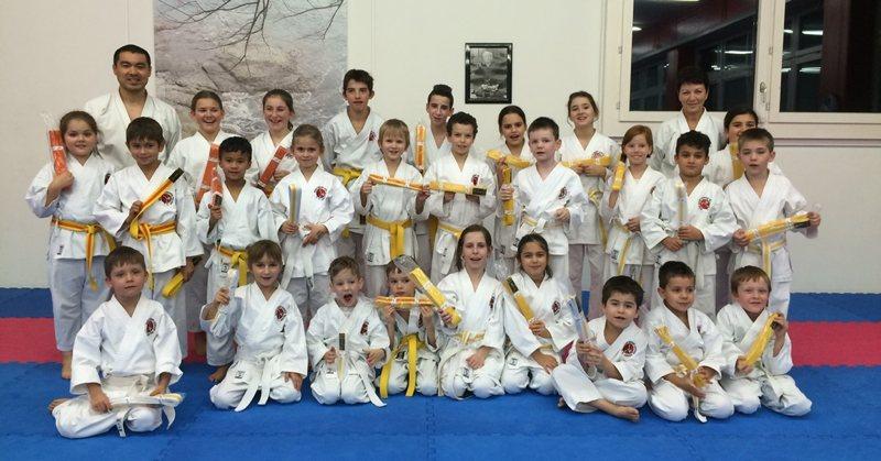 Kinder Kyu-Prüfungen Dezember 2014 Budo Sport Center