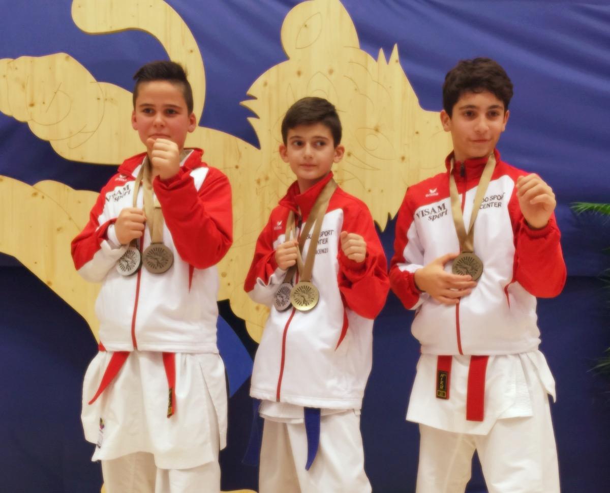 Kevin Wagner (Silber und Bronze), Geatani Vincenzo (Gold und Silber) und Amir Mneimne (Bronze)